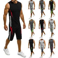 OZONEE Herren Sportanzug Trainingsanzug Shirt Kurzhose Fitness 7034 MIX