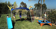 IronKids Cooling Mist Inspiration 750 Fitness Playground Metal Swing Set and Uv