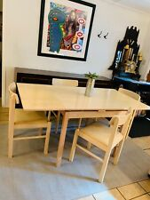 Mid Century Modern Extension Table By Kurt Østervig w/ 4 Benny Linden Chairs