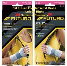 3M Futuro For Her Slim Silhouette Wrist Stabiliser Left or Right Adjustable NEW