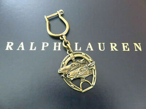 Polo RALPH LAUREN Key Chain FOB Brass Horse Shoe Horse Stirrup