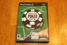 World Series of Poker (Sony PlayStation 2, 2005) Complete **FAST FREE SHIPPING**