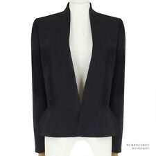 Stella McCartney Black Tailored Slim-Fitting Peplum Hem Jacket Blazer IT38 UK6