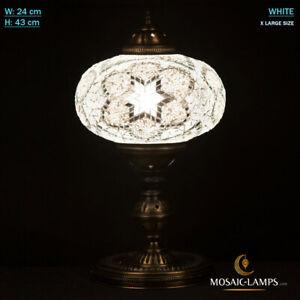 Mosaic Table Lamp X Large Size, Turkish Mosaic Desk Lighting, Ottoman, Moroccan