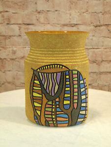 Moderne Vase Keramik ovale Form 26 cm hoch