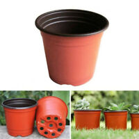 100Pcs Plastic Nursery Pots Seedling Flower Plant Container Garden Planter Lot