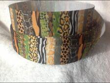 Animal Prints 25mm  Grosgrain Ribbon 3 Meter Length Hair Bows Craft Sewing