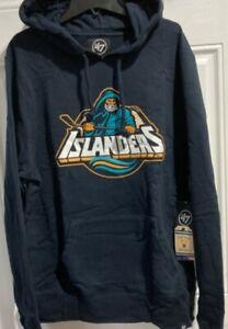 New York Islanders Hoodie NHL sweatshirt hood 2XL XXL 47 Brand Navy throwback