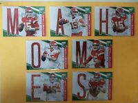 7 2019 Panini Elite Patrick Mahomes GREEN SPELLBOUND Kansas City Chiefs Set