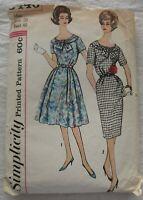 Vintage Dress Sewing Pattern*Simplicity 3446*Size 20*CUT*retro 1960s Plus Size