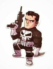 The Punisher Decal Waterproof Removable Sticker Laptop Tablet Car 3DS Skateboard