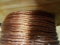 STRANDED GROUND WIRE  BARE COPPER 8 AWG 10' FEET