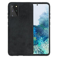 Handy Hülle für Samsung S10 S20 S21 Plus Ultra Note 10 20 Ultra Case Wildleder