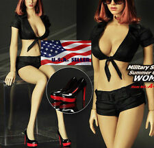 """1/6 Sexy Women Summer Outfits Set with Shoes For 12"""" Hot Toys Phicen Female USA"""