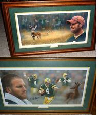 GREEN BAY PACKERS BRETT FAVRE 4 SIGNED Whitetails LE GORALSKI LITHO COA SET PAIR