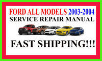 Ford 2003-2004 ALL Models on DVD DVD Repair Factory Workshop Software Manual