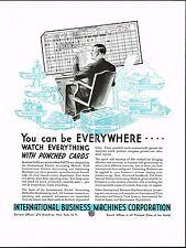 1934 BIG Vintage IBM Accounting Tabulating Computer Machine Card Art Print Ad d