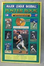 1990 GOLD GLOVERS Major League Baseball Poster Book.  large unused