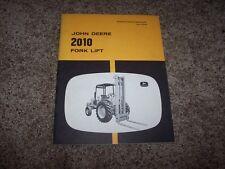 John Deere 2010 Fork LIft Forklift Owner Operator Maintenance Manual OMU16340
