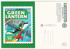 Green Lantern #4 USPS Super Heroes Stamp Art Post Card ~ SIGNED by Joe Giella