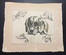 Johann Elias Ridinger Hound Dog Engraving C.1728 Plate No.7