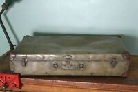 Vintage Hard - Sided Suitcase Bag Carry On Travel Steamer Photography Decor