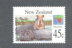 Hippopotamus-New Zealand 1994-Wild animals mnh-