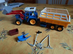 Playmobil Traktor mit Anhänger Erntewagen Heuwagen Kipper