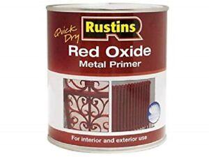 Rustins- Quick Dry Red Oxide Metal Primer Interior Exterior - 250ML / 500ML / 1L