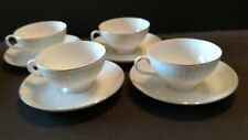 Vintage Empress China Mid-Century Modern Tango 4 Cups & 4 Saucers, #1301