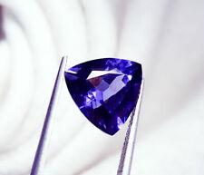 Loose Gemstone Natural Tanzanite 10.07 Ct Certified Trillion Shape