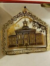 Historic Richmond Town Staten Island New York  Brass Christmas Ornament