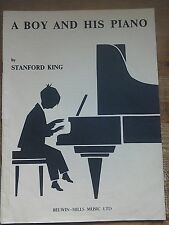 A Boy and His Piano by Stanford King.Belwin-Mills Music Ltd.1946.