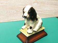 More details for spaniel puppy vintage japan raj calif porcelain pedestal figurine