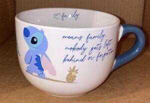 Disney Lilo And Stitch Ohana Soup Mug 20oz NEW