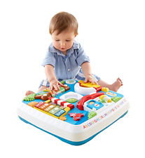 Toddler Learning Table Zoo Market Pets Home Activity Playing Center Table, New