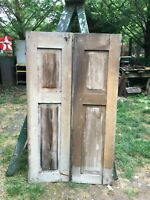"j21 Pair Bifold Lovered Wood Shutters 20/"" Long 13.5/"" Wide"