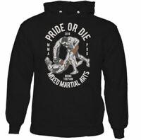 Pride or Die Mens Funny MMA Hoodie Training Top Boxing Muay Thai UFC Judo Karate