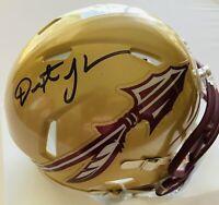 Dexter Jackson Super Bowl MVP Autographed Florida State Seminoles Mini Helmet