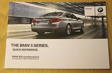 GENUINE BMW 5 SERIES F10 F11 2011-2017 QUICK REFERENCE HANDBOOK GUIDE MANUAL