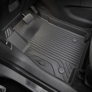 2017-2022 Chevrolet Trax Front & Rear Floor Liners Black Genuine OEM GM