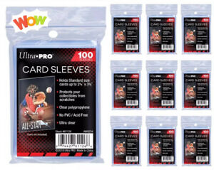 Sleeves Ultra Pro ❌1️⃣0️⃣0️⃣0️⃣ Protection pour cartes Pokemon Cards, Magic, PCA