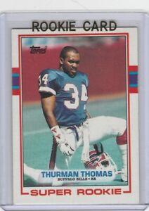 THURMAN THOMAS Buffalo Bills RC 1989 Topps Football ROOKIE CAR NFL HOFer