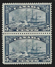 1933 Canada Sc#204 (Pair) Royal William - VF  Mint NH OG