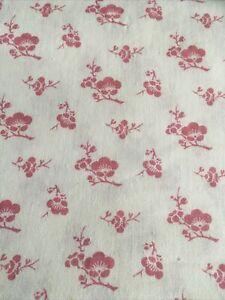 Vintage Laura Ashley Cotton Fabric Remnant Pink Floral Patchwork Crafts