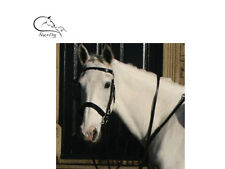 Leather Hunt Bridle FREE Rubber Reins All Sizes Black or Brown FREE DELIVERY