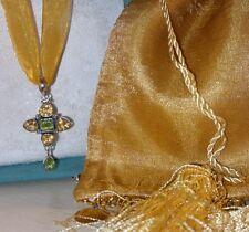 Paul Deasey-Gem Insider ARTISAN Sterling silver citrine peridot Pendant Necklace
