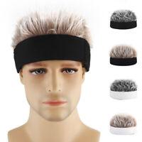 Women Men Unisex Beanie Rock Cap Outdoor Punk Street Funny Wig Fake Hair Novelty
