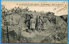 CPA: Butte du Mesnit - A 4 m des boches, les poilus...  / Guerre 14-18