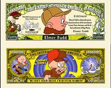 Elmer Fudd Million Dollar Bill Collectible Fake Play Funny Money Novelty Note